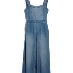 Made well Denim Bow-Back Jumpsuit Size Zero